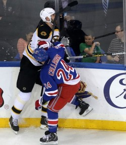 Boston Bruins Vs. New York Rangers At Madison Square Garden