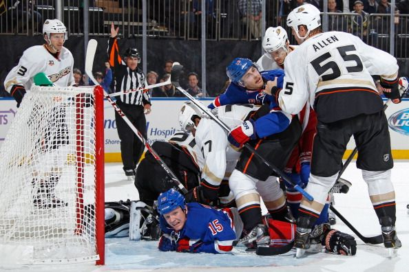 Anaheim Ducks v New York Rangers