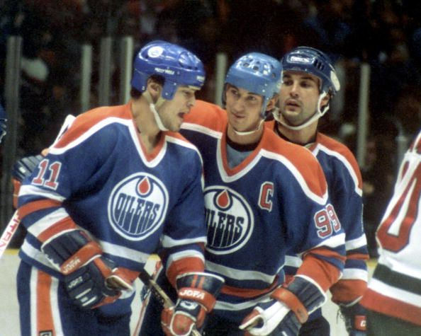 Mark Messier Wayne Gretzky and Paul Coffey