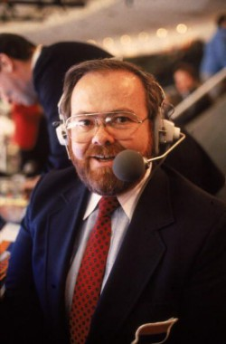 New York Islanders Announcer Jiggs McDonald At Nassau Coliseum