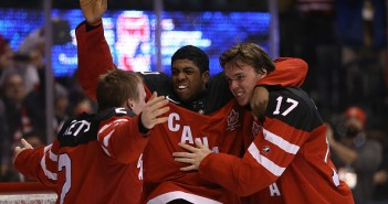 Team Canada beats Team Russia  5-4 to win the Gold Medal in the IIHF World Junior Hockey Tournament