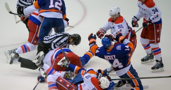 he New York Islanders play the Washington Capitals  in overtime in game 6