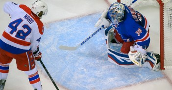 The New York rangers play the Washington Capitals