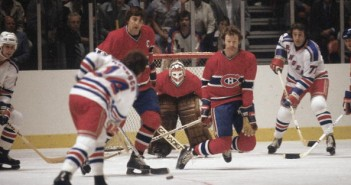 Montreal Canadiens Serge Savard, Goalie Ken Dryden, and Larry Robinson, 1979 NHL Stanley Cup Finals