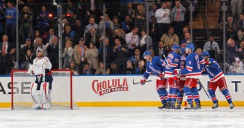 rangers celebrate, holtby