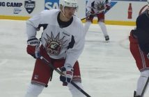 Pavel Buchnevich at training camp Monday