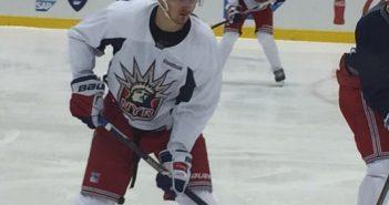 Pavel Buchnevich at training camp Monday
